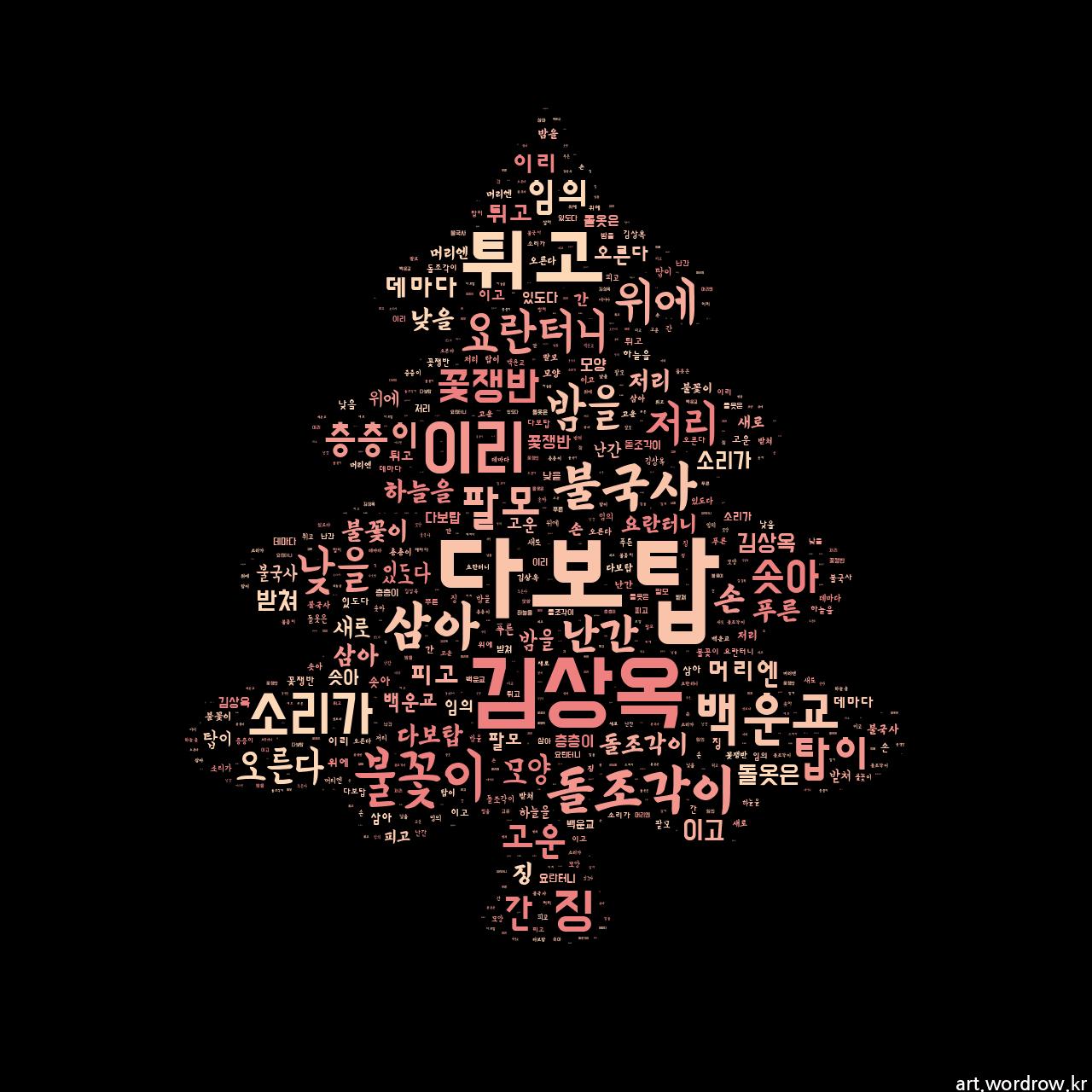 워드 클라우드: 다보탑 [김상옥]-5
